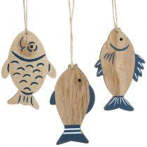 Holzhänger Sortiment Fische 9,5cm – 10cm 6St