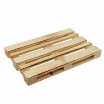 Mini-Holzpalette Dekotablett Geflammt 30×20×3cm