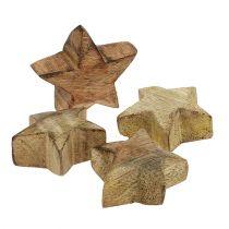 Holzstern Natur 5cm - 6cm in Box 12St
