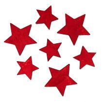 Holzsterne Rot 2,5-3,5cm 36St