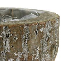 Pflanztopf aus Holz Weiß gewaschen Ø20cm H10cm