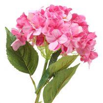 Hortensie groß künstlich Rosa L110cm