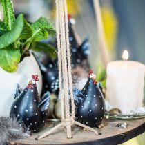 Osterdeko Huhn, Lustiges Huhn, Tischdeko für den Frühling, Oster-Huhn 13cm