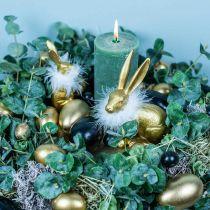 Hühnereier Schwarz Osterdeko Ausgeblasene Eier 12St