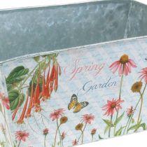 Jardiniere Pflanzkasten Metall Frühlingsdeko 20×12×10cm