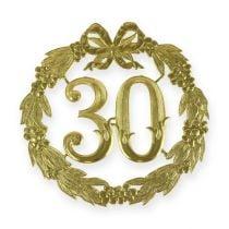 Jubiläumszahl 30 in Gold