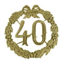 Jubiläumszahl 40 in Gold
