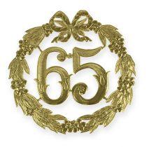 Jubiläumszahl 65 in Gold