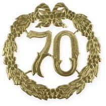Jubiläumszahl 70 in Gold