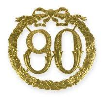 Jubiläumszahl 80 in Gold
