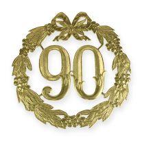 Jubiläumszahl 90 in Gold