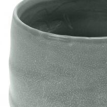 Keramiktopf, Pflanzgefäß, Übertopf gewellt Ø16cm 2St