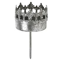 Kerzenhalter Antik Silber Ø5cm H10cm 1St