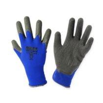 Kixx Nylon Gartenhandschuhe Gr.8 Blau, Schwarz
