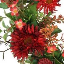 Herbstkranz Seidenblumen Rot Gerbera Distel Türkranz Ø42cm
