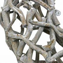 Dekokranz Holz Grau gekalkt Naturkranz Tischdeko Ø50cm