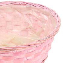 Spankorb rund Lila/Weiß/Rosa Ø25cm 6St
