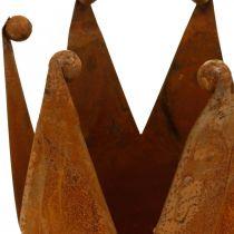 Dekokrone, Metalldeko, Edelrost Ø15cm H11,5cm