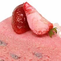 Tortenstück Erdbeer künstlich 10cm