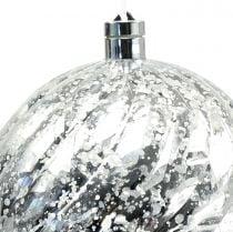 Kugel Plastik Silber mit Beleuchtung Ø20cm