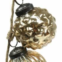 Weihnachtsdeko Girlande Christbaumkugeln Gold 120cm