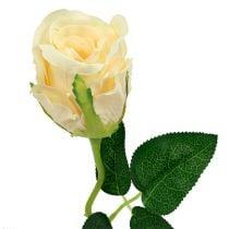 Kunstblumen Rose Creme Ø6cm L50cm 6St