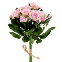 Kunstblumen Rosenstrauß Rosa L26cm 3St