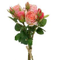 Kunstrosen Strauß Rosa 40cm