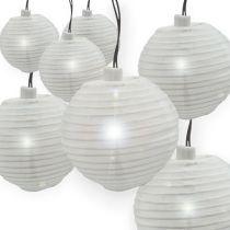 China-Laterne mit LED, Weiß 9,5m 20L