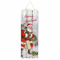 "LED-Wandbild Weihnachtsmann ""Merry Christmas"" 21×60cm Für Batterie"