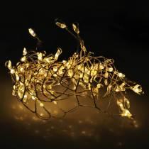 LED-Lichterkette Warmweiß Silbern 100cm 100L Für Batterie