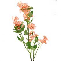 Wandelröschen Lantana Zweig künstlich Pfirsichfarben 80cm