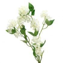 Wandelröschen Lantana Zweig künstlich Weiß 80cm