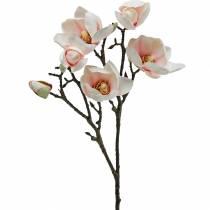 Magnolienzweig Rosa Künstliche Magnolie Seidenblumen