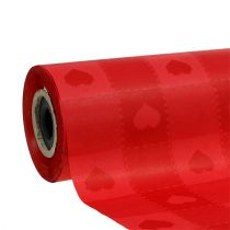 Manschettenpapier 25cm 100m Rot Herzen
