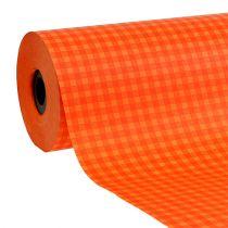 Manschettenpapier 37,5cm Orange Karo 100m