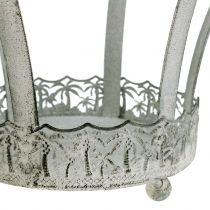 Metall-Krone zur Dekoration Ø20,5cm H26cm