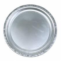 Deko-Teller Metall Silber Glänzend Ø34cm H3cm