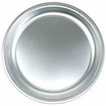 Metallteller Basic Silber glänzend Ø45,5cm H4cm