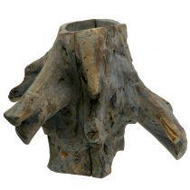 Dekotopf Wurzel Grau 33cm x 29cm H30cm