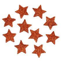 Mini Glitterstern Orange 2,5cm 48St