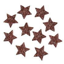 Mini Glitterstern zum Streuen Braun 2,5cm 48St