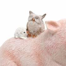 Dekofigur-Set Schweinchen mit Tierfreunden 9,3cm×7,5/8,5cm 2St