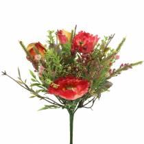 Blumenstrauß Herbst Mohn 25cm