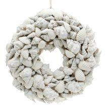 Muschelkranz Weiß Ø30cm
