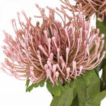 Herbstblume Nadelkissen künstlich Rosa Leucospermum 73cm 3St