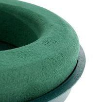 Steckmasse Ring Steckschaum mit Schale Grün Ø30cm H4,5cm 2St