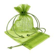 Organzasäckchen Grün 12cm x 9cm 10St