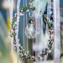 Ostereier mit Trockenblumen, Dekoeier Echtglas, Florale Osterdeko zum Hängen, Glaseier 8St