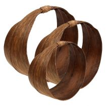 Palmblatt Set Natur 21cm -26cm
